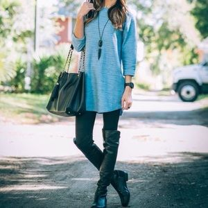 Topshop blue speckled space dye tunic